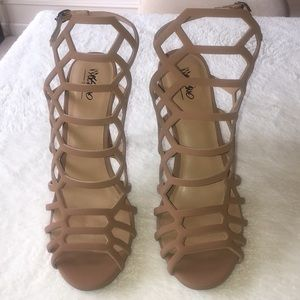 Mossimo cage heels strapped gladiator style 9